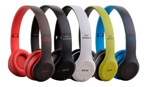 Imagen 1 de 4 de Auricular Bluetooth 4.1 Manos Libres P47 Fm Sd Mp3 Cable