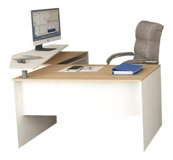 Escritorio En L 1.60mts Puesto De Trabajo Oficina Mesa Pc