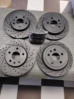 4 Discos Rotores Freno Ranurados Perforados Camaro V6 10-15