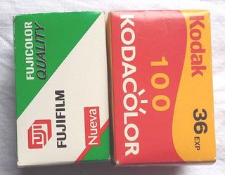 Dos Cajitas Vacias De Rollo Foto 35mm Mas Publicidad Kodak
