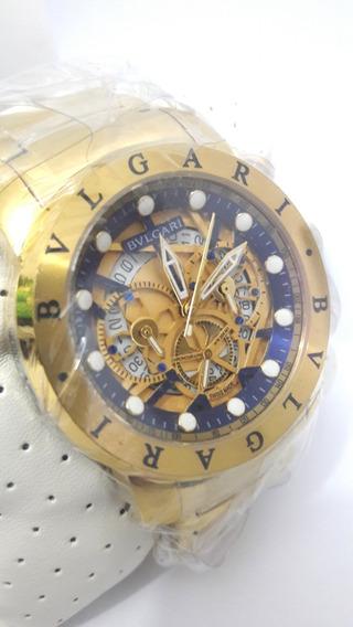 Relógio Bullgari 325 Luxo Funcional Bv Ouro