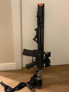 Rifle De Airsoft Krytac Aeg War Sport Lvoa-c Black C/ Nf