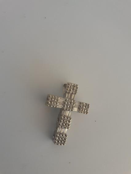 Cruz De Oro 18k Con Diamantes Centenario