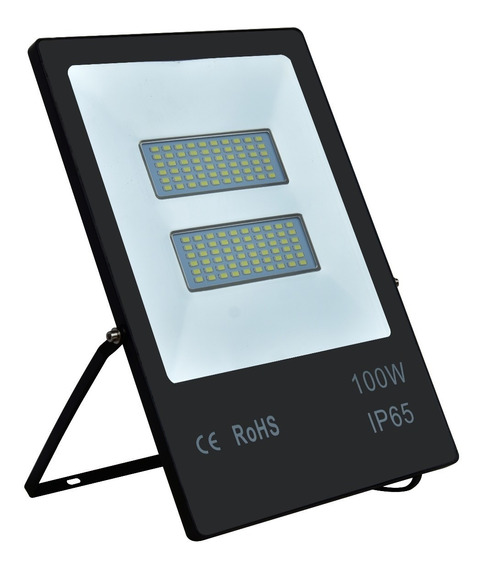 Refletor Externo Led Smd Slim iPad Preto 100w 6500k