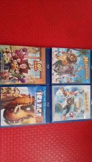 Lote Blu-ray Madagascar Toy Story 3 La Era Del Hielo Surfsup