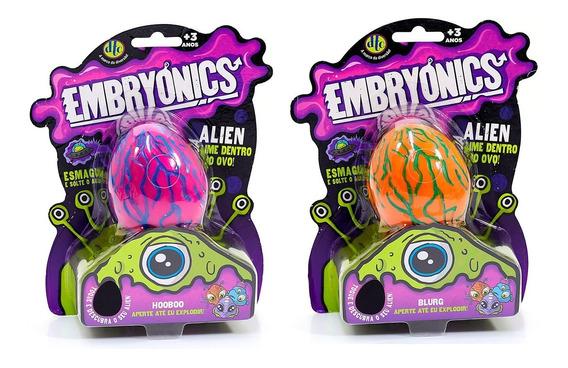 Ovo Slime Embryonics Alien Com 2 Unidades - Original Dtc