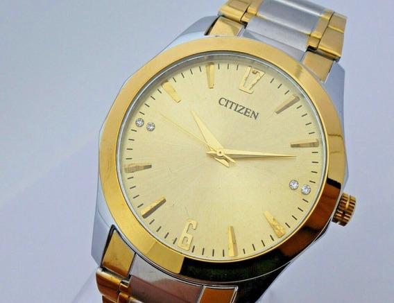 N1) Relógio De Pulso Citizen Banhado A Ouro Frete Grátis