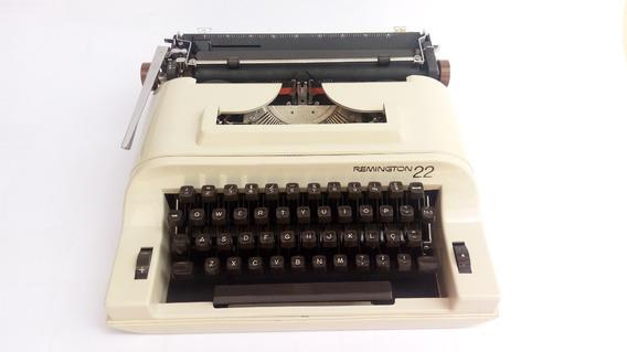 Máquina Escrever Remington 22 - Novíssima - Branca - Estojo