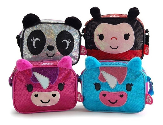 Cartera Carterita Infantil Zoo Bags Lentejuelas Mmk