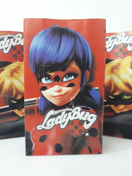 10 Bolsas Papel Lady Bug Candy Souvenir Fiestissima Liniers