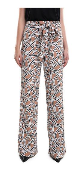 Pantalon Ancho Mujer Con Jareta En Cintura Color Naranja Lob