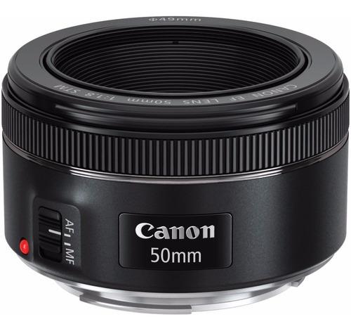 Imagem 1 de 5 de Lente Canon Ef 50mm F/1.8 Stm + Filtro Uv Brinde + Nf