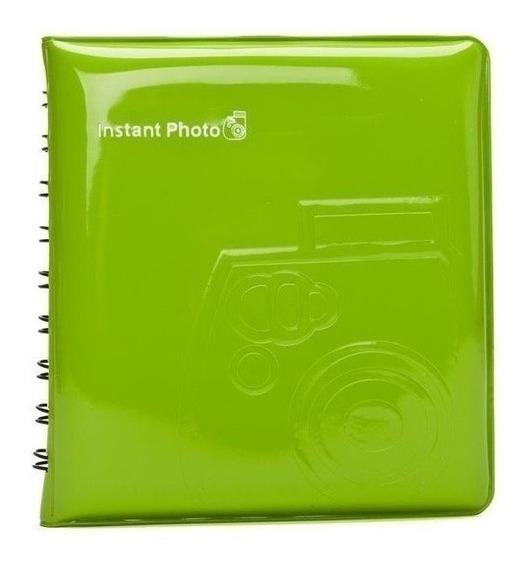 Album Instax Mini Para 64 Fotos Fujifilm Verde