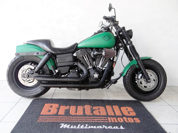 Harley Davidson Dyna Fat Bob Verde