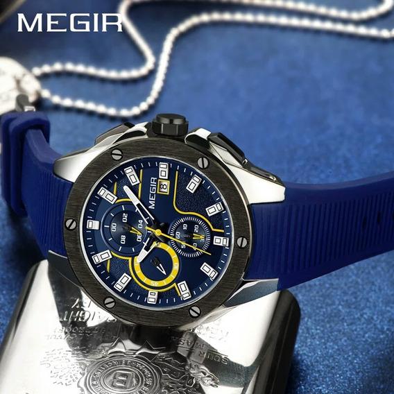 Relógio Masculino Megir Original Esportivo Social Militar