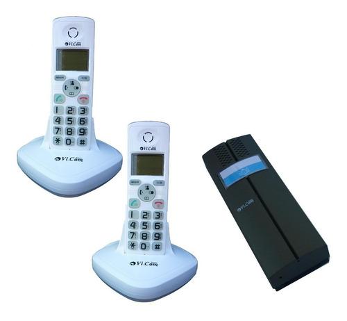 Kit Portero Electrico Inalambrico + 2 Telefonos Vi.com 3622f