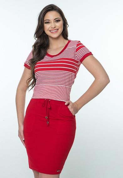 Conjunto Modinha Hapuk Girl - Vermelho Moda Evangélica