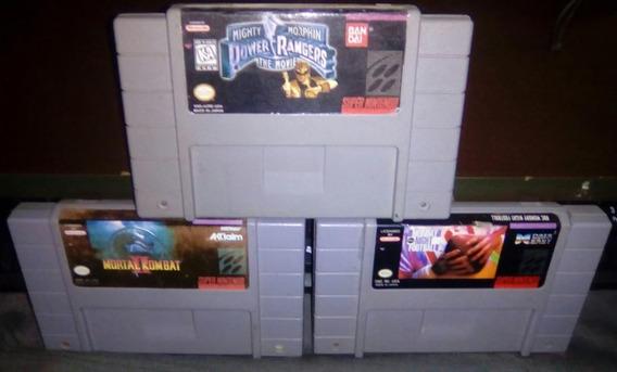Lote Cartucho Snes Mk2, Power Ranger, F. Usa, Super Nintendo