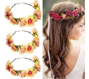 Coroa De Flores Para Ensaio Fotográfico, Gestantes E Noivas