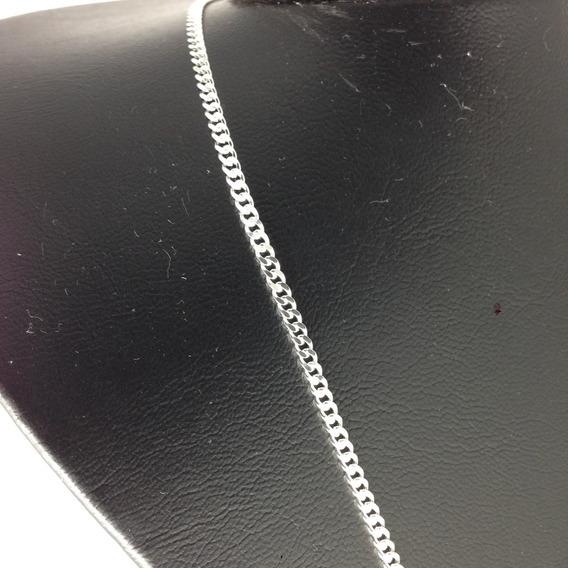 Corrente Cordão Grumet Em Prata 925 Masculina 3mm X 60cm