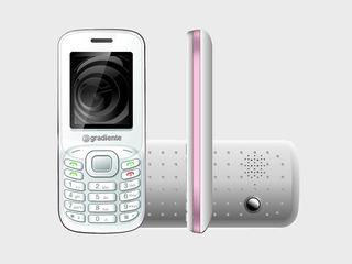 C90 Celular Gradiente Rádio/mp3 - 3chips Semi-novo