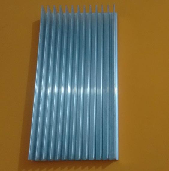Dissipador De Aluminio 200x104x25 (mm) Aletas Estriadas
