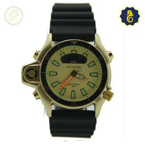 Relógio Masculino Esportivo Original Ponteiro Digital Dourad
