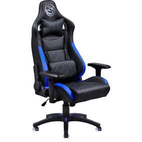 Cadeira Gamer Escritorio Mad Racer Preto Com Detalhes Azul