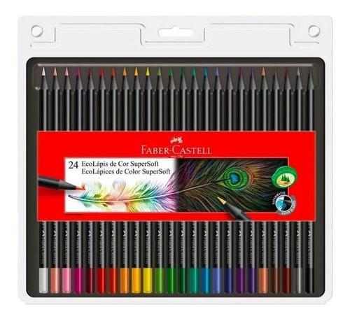 Lápices De Colores Faber X24 Supersoft