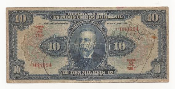 Cédula Brasil 10.000 Réis R110 D
