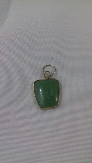 Dije De Cuarzo Jade Forma De Manzana
