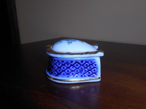 Antigo Porta Jóias De Porcelana