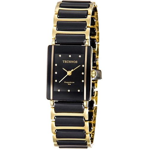 Relógio Technos Cerâmica Safira Gn10aapai/4p Preto Original
