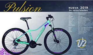 Bicicleta Vairo Pulsion Mujer 24v Hidrauli 27.5 Planet Cycle