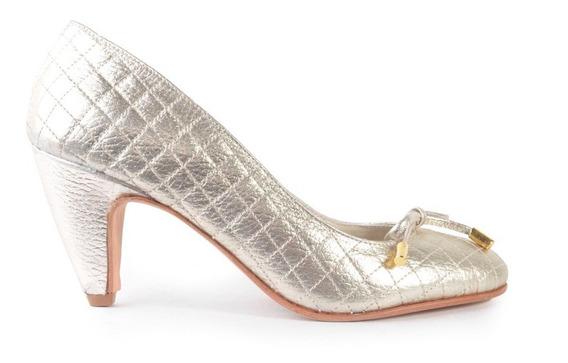 Zapatos De Mujer Taco Bajo De Cuero Hao - Ferraro -