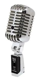 Micrófono Dinámico Estilo Vintage Isk Dm-55 Vocal C/ Estuche