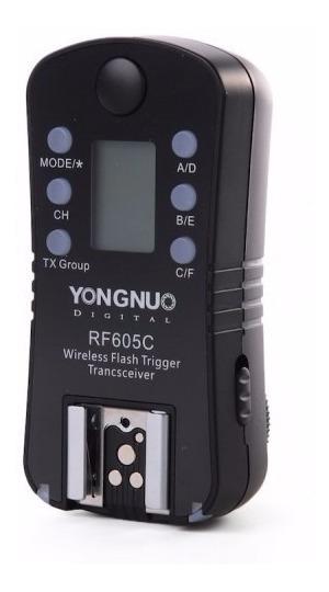 Disparador Yongnuo Rf605 Para Flash Para Canon