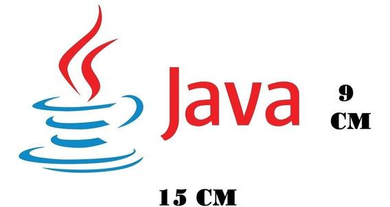 Adesivo Logo Java Linguagens Com Frete Grátis