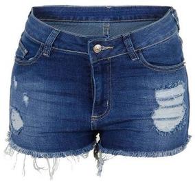 Kit 10 Short Jeans Feminino Shortinho 2 A 56 Infantil Adulto