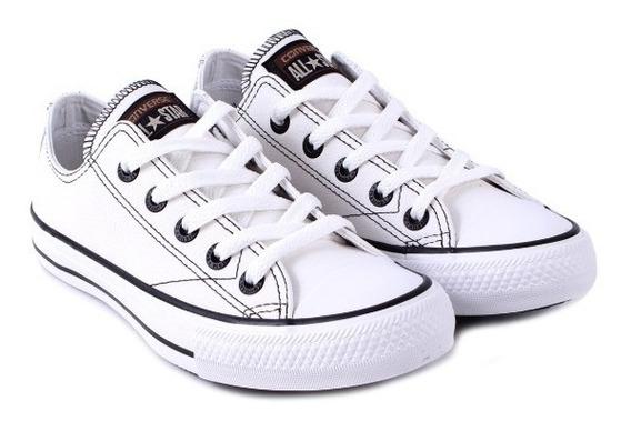 Tênis Couro Branco 2 Converse All Star Original N38 Clique+