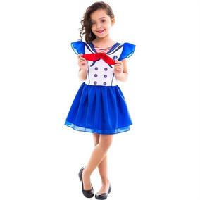 Roupa De Carnaval Feminina Marinheira Infantil 2 A 12 Anos