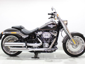 Harley Davidson - Softail Fat Boy - 2019 Cinza