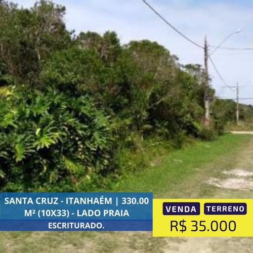 Imagem 1 de 10 de Terreno Lado Praia De 330 Mts Já Documentado Em Itanhaém Sp