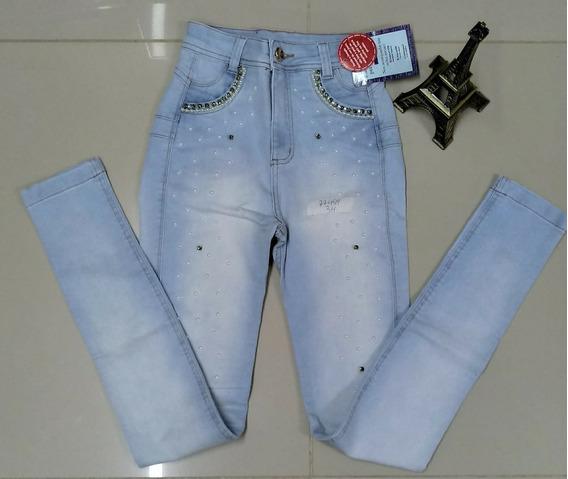 Calça Jeans Feminina Cintura Alta Turbina Bumbum Tripsurf