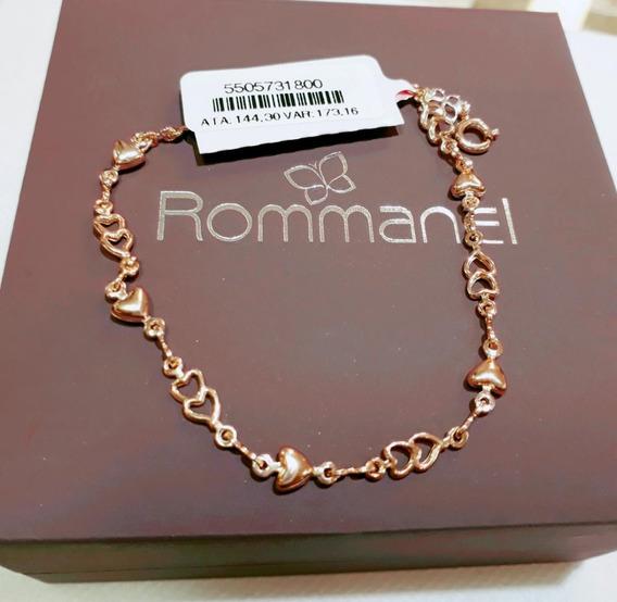 550573 Pulseira Formada Por Corações Folheado Ouro Rommanel