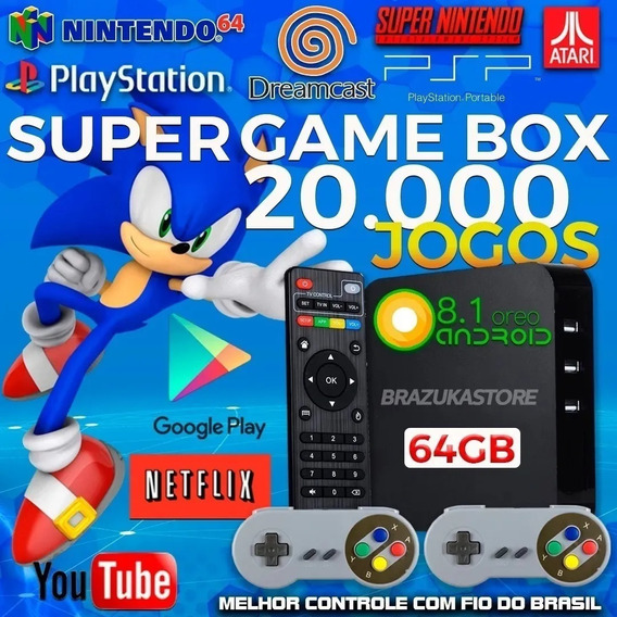 Super Game Box -vídeo Game Retro Multijogos Com 20.000 Jogos