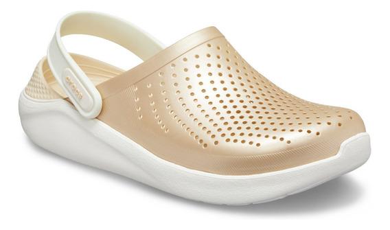 Sandalia Unisex Crocs Literide Clog Metálico