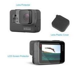 Acessórios Go Pro 5 6 Black Proteção Películas E Tampa Lente