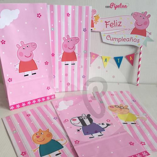 5a6c7a054 Bolsitas Peppa Pig - Souvenirs para Cumpleaños Infantiles Bolsitas ...