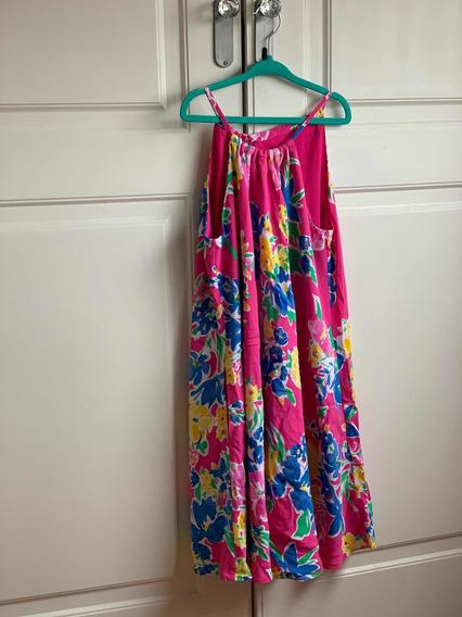 Vestido Niña Flores Diseñador Ralph Lauren Polo Talle 8 !!!